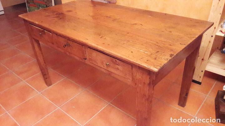 mesa de cocina de madera de olmo - Kaufen Antike Tische in ...