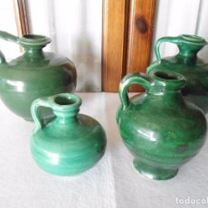 Antigüedades: LOTE PERULAS VIDRIADO VERDE. Lote 100722695