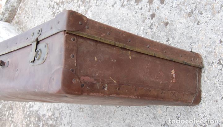 Antigüedades: MALETA ANTIGUA CON INICIALES - Foto 2 - 100757139