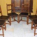 Antigüedades: 6 SILLAS DE ESTILO ISABELINO.REF.6123. Lote 100757931