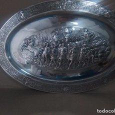 Antigüedades: BANDEJA BAÑO DE PLATA. Lote 100779599