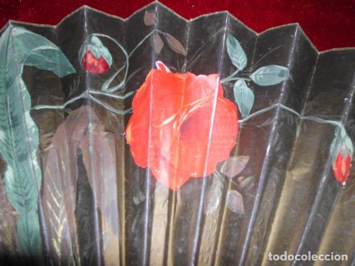 Antigüedades: ANTIGUO ABANICO ORIENTAL CON APLICACIONES DE SEDA - Foto 2 - 100784563