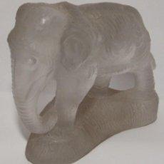Antiquités: ELEFANTE EN CRISTAL GLASSE. Lote 100891915