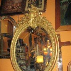 Antigüedades: ESPEJO LUIS XV, PAN DE ORO. Lote 101002443