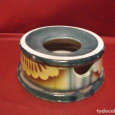 Antigüedades: MAGNIFICA MUY ANTIGUA ESCUPIDERA EN CERAMICA VIDRIADA. Lote 101022599