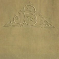 Antigüedades: ANTIGUA SÁBANA DE LINO CON INICIALES Y VAINICAS BORDADAS A MANO PPIO.S.XX. Lote 101025815