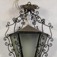 Antiquitäten - lampara de techo farol en hierro de forja - 101041063