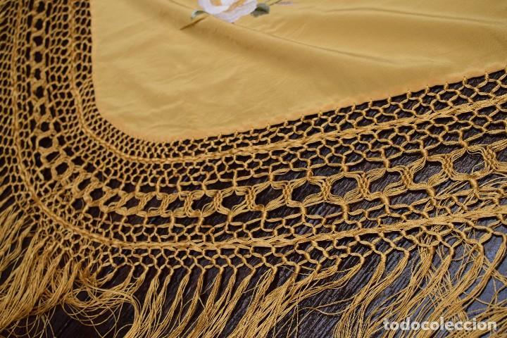 Antigüedades: Manton de Manila seda bordada a mano - Foto 3 - 118908934