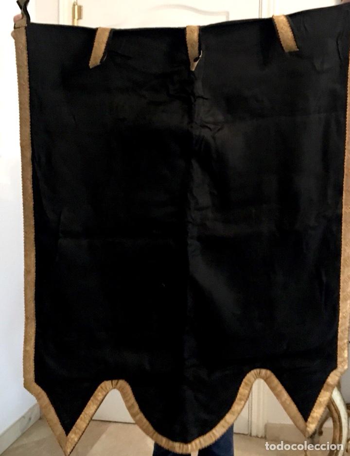 Antigüedades: Estandarte muy antiguo de la virgen del Carmen - Foto 2 - 101069880