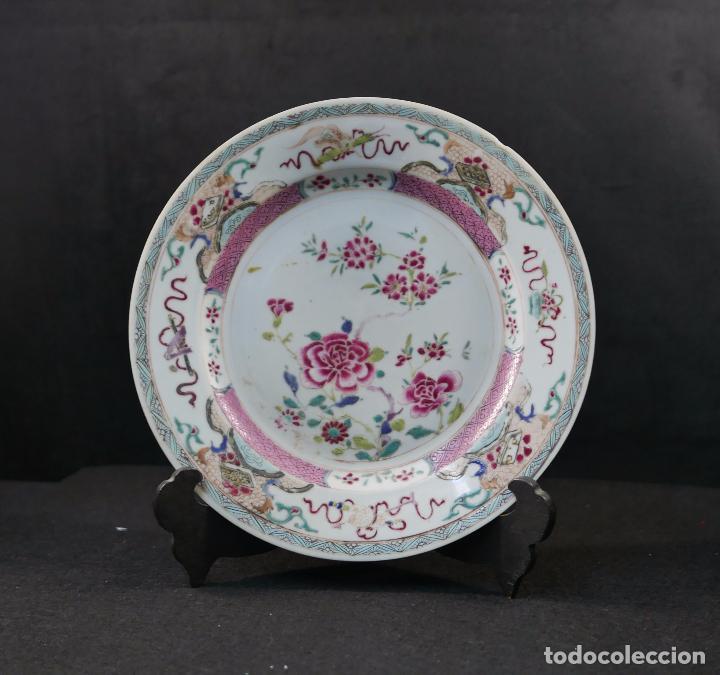 PLATO CHINO CHINA PORCELANA SIGLO XIX (Antigüedades - Varios)