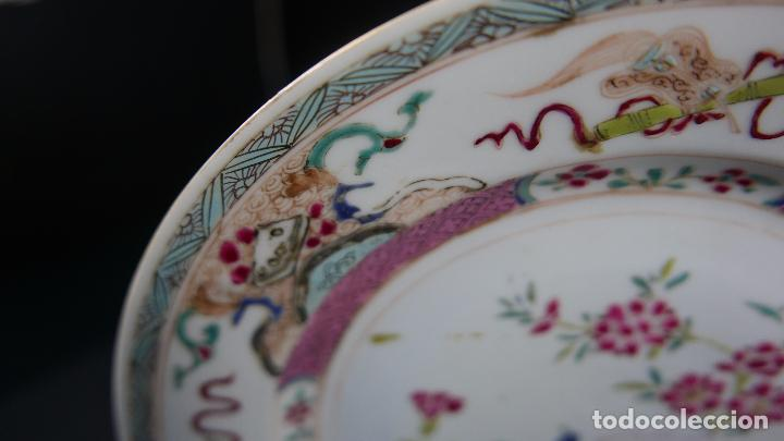 Antigüedades: PLATO CHINO CHINA PORCELANA SIGLO XIX - Foto 7 - 101082283