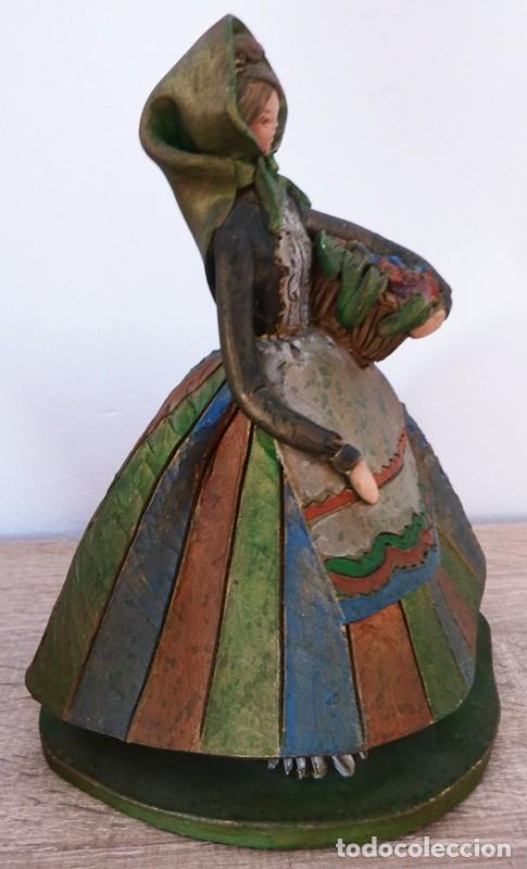 Antigüedades: FIGURA DE MUJER EN TERRACOTA COLOREADA FIRMADO C. OLIVER AÑOS 50 - Foto 4 - 101083731