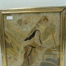 Antigüedades: BORDADO SANTA TERESA - CARAS Y MANOS LITOGRAFIADAS - SIGLO XIX. Lote 101090559