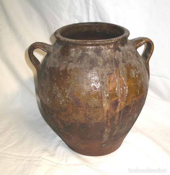 ORZA OREJERA DE TERRACOTA PARA ADOBO ARTE POPULAR. MED. 24 X 28 CM (Antigüedades - Técnicas - Rústicas - Utensilios del Hogar)