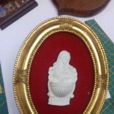 Antigüedades: BENDITERA BISCUIT ENMARCADA.. Lote 101124951