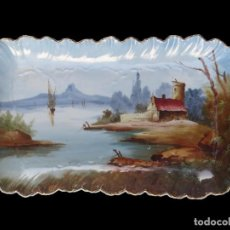 Antigüedades: BANDEJA PORCELANA LIMOGES - ANTIGUA FUENTE - PLATO PINTADA A MANO. Lote 101142443