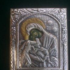 Antigüedades: ICONO BIZANTINO EN PLATA DE LEY. Lote 101161463
