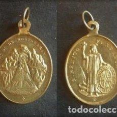 Antigüedades: MEDALLA RELIGIOSA ANTIGUA NUESTRA SEÑORA DE MONTSERRAT SAN BENITO FUNDADOR SIGLO XIX. Lote 101172627