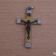 Antigüedades: ANTIGUO COLGANTE CRUZ DE CRISTO.. Lote 101184907