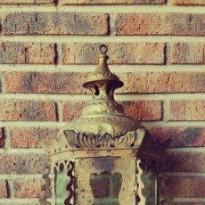 Antigüedades: LINTERNA ANTIGUA DORADA ITALIANA. Lote 101202815