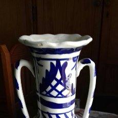 Antigüedades: JARRA BOTIJO CERAMICA ANTIGUA GRANDE TALAVERA FAJALAUZA TRIANA SARGADELOS. Lote 101204891