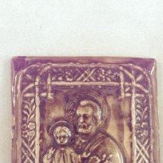 Antigüedades: ANTIGUO LADRILLO O PORCELANA CERAMICA SAN JOSE,, O SAN CRISTOBAL ARTESANAL, CALIDAD. Lote 101210839