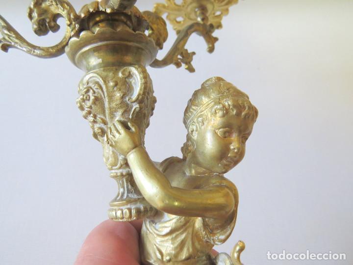 Antigüedades: CANDELABRO MODERNISTA CUATRO LUCES FINALES DEL SIGLO XIX -PRINCIPIO DEL XX - Foto 5 - 101213407