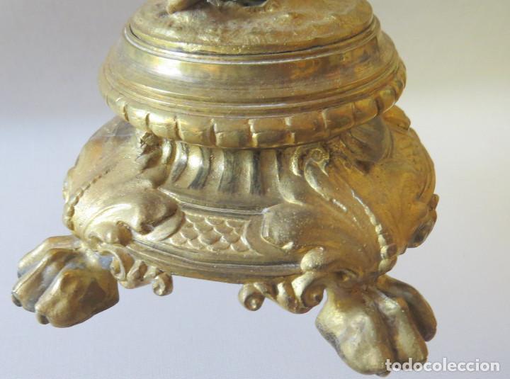 Antigüedades: CANDELABRO MODERNISTA CUATRO LUCES FINALES DEL SIGLO XIX -PRINCIPIO DEL XX - Foto 8 - 101213407