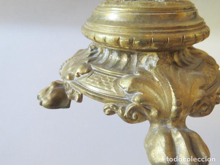 Antigüedades: CANDELABRO MODERNISTA CUATRO LUCES FINALES DEL SIGLO XIX -PRINCIPIO DEL XX - Foto 9 - 101213407
