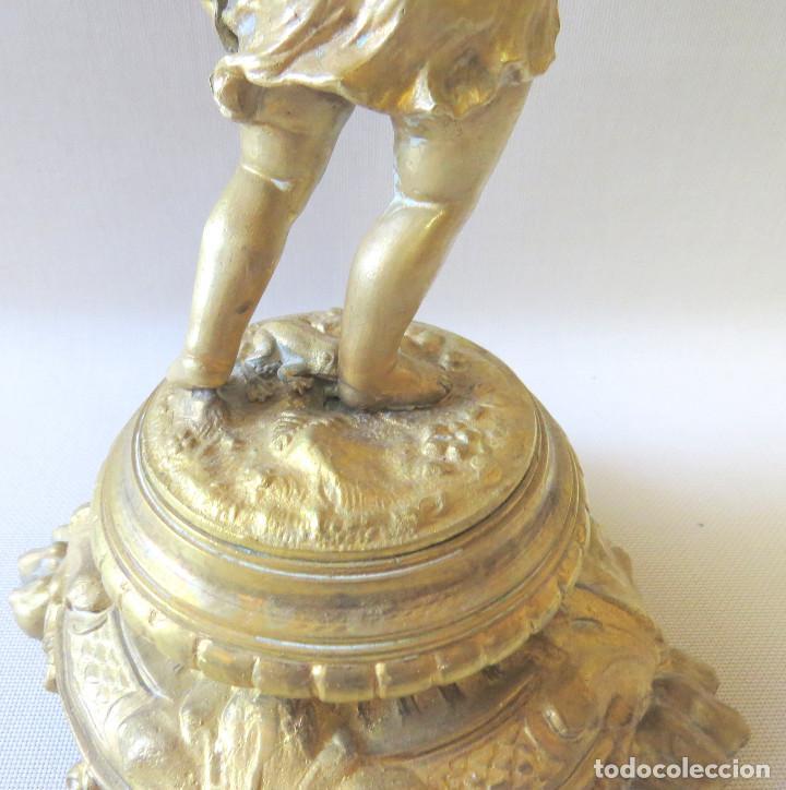 Antigüedades: CANDELABRO MODERNISTA CUATRO LUCES FINALES DEL SIGLO XIX -PRINCIPIO DEL XX - Foto 28 - 101213407