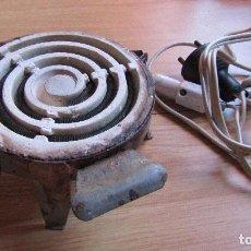 Antigüedades: ANTIGUO HORNILLO CON RESISTENCIA CERAMICA - FUNCIONABA A 125 V.. Lote 101226511