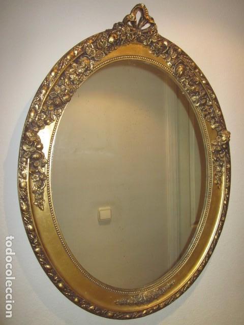 Marco isabelino luis xv o alfonsino con espej comprar - Espejo veneciano antiguo ...