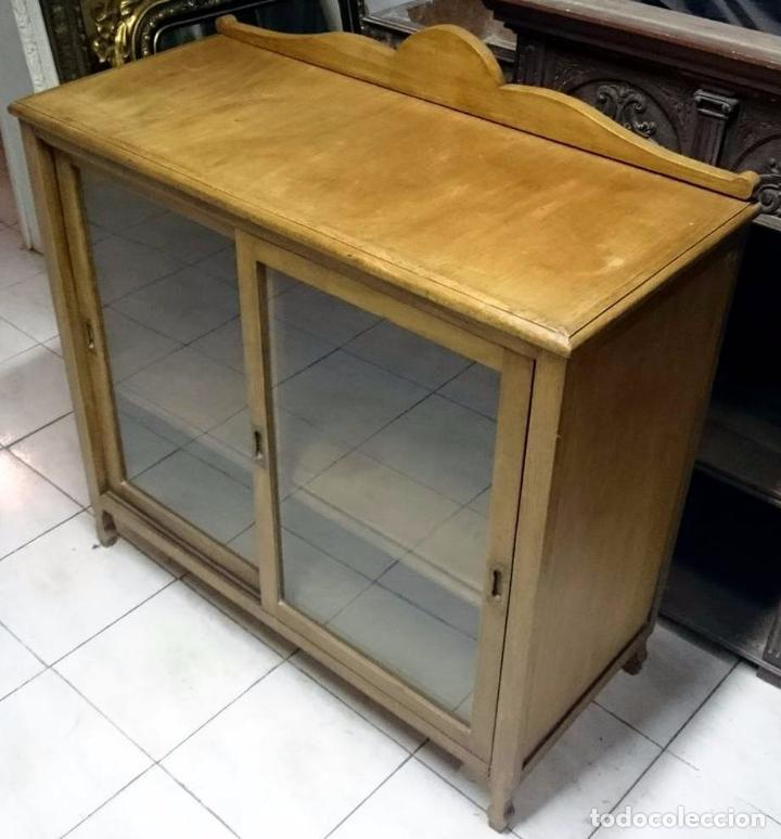 Antigüedades: Antiguo mueble auxiliar, aparador, alacena restaurada.Vajillero - Foto 2 - 85433656