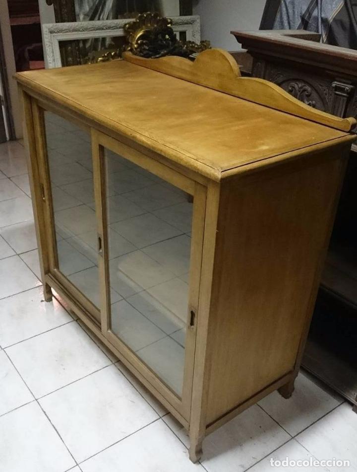 Antigüedades: Antiguo mueble auxiliar, aparador, alacena restaurada.Vajillero - Foto 3 - 85433656