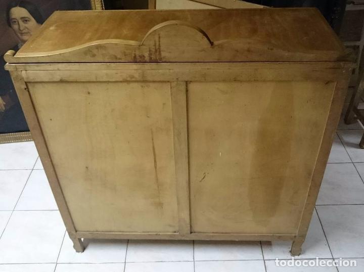 Antigüedades: Antiguo mueble auxiliar, aparador, alacena restaurada.Vajillero - Foto 4 - 85433656