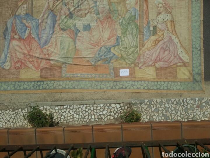 Antigüedades: Tapiz pintado sobre lona 7.00 x 4.50 - Foto 3 - 101253107