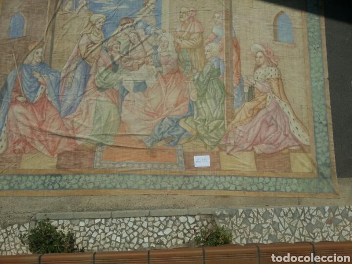 Antigüedades: Tapiz pintado sobre lona 7.00 x 4.50 - Foto 4 - 101253107