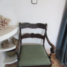Antigüedades: SILLÓN DE MADERA ANTIGUO. Lote 101272563