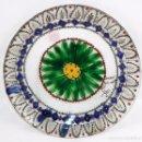 Antigüedades: JOSEP MARIA GOL (BARCELONA, 1897 - 1980) PLATO EN VIDRIO PINTADO. FIRMADO Y FECHADO EN PARIS. Lote 101274151