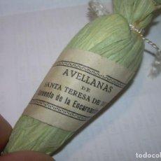 Antigüedades: ANTIGUO ESCAPULARIO...AVELLANAS DE SANTA TERESA CONVENTO DE LA ENCARNACION DE AVILA.. Lote 101278231