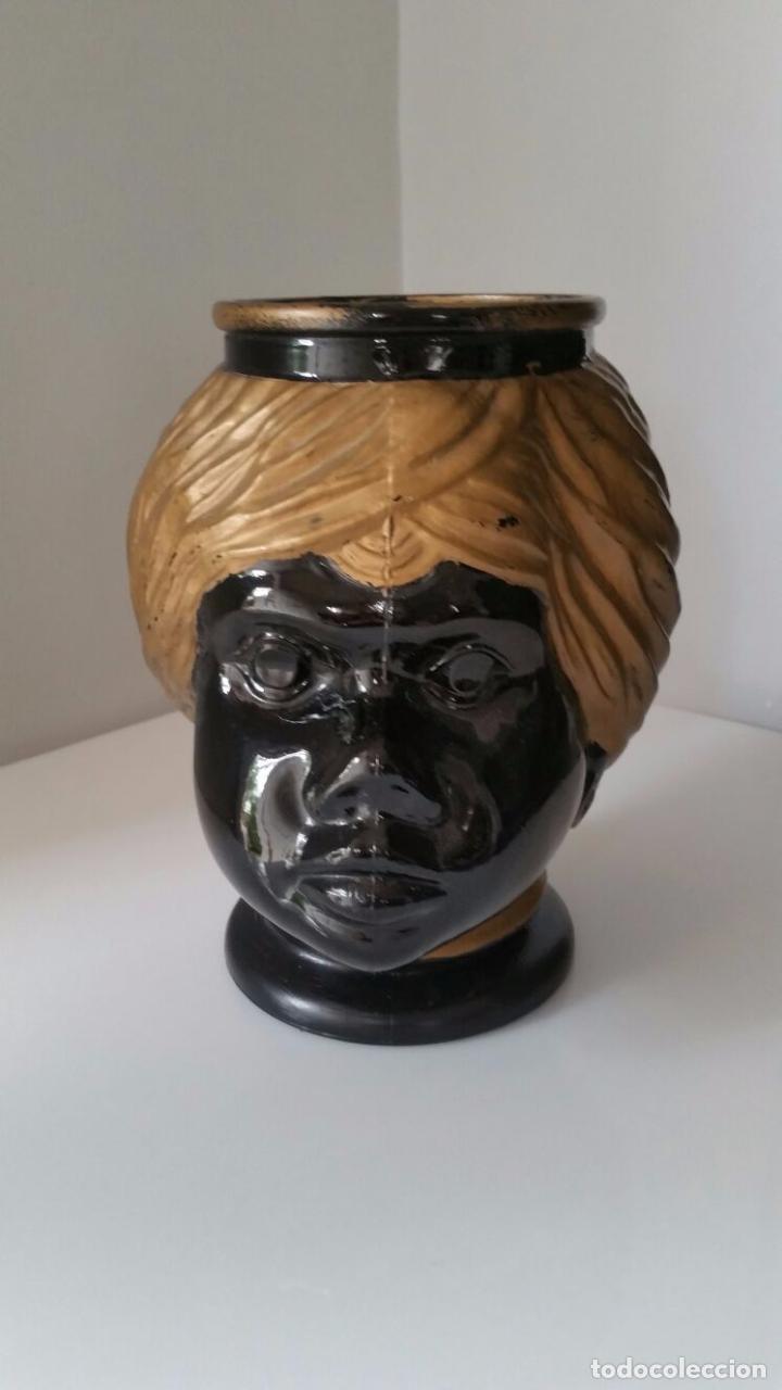 Antigüedades: Jarrón cabeza Testa di Moro Fornasetti - Foto 3 - 101280583