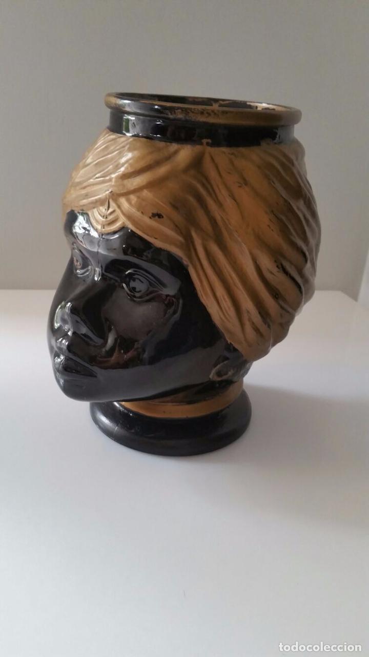 Antigüedades: Jarrón cabeza Testa di Moro Fornasetti - Foto 4 - 101280583