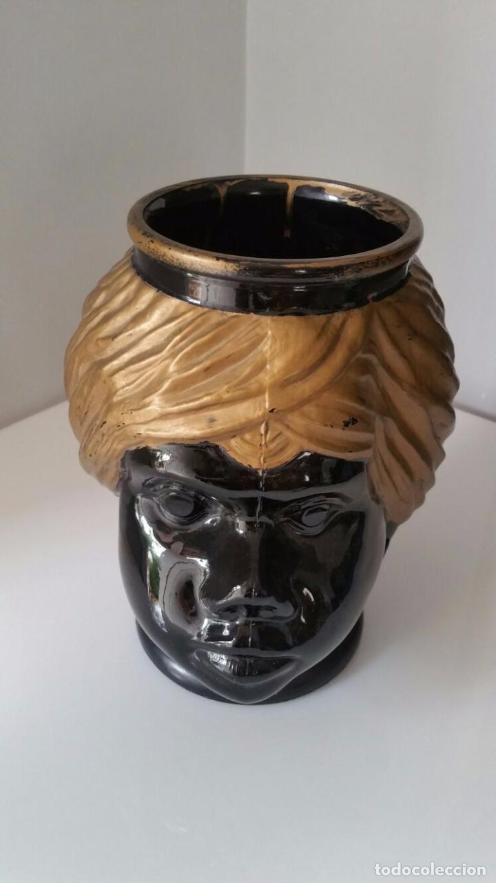 Antigüedades: Jarrón cabeza Testa di Moro Fornasetti - Foto 5 - 101280583