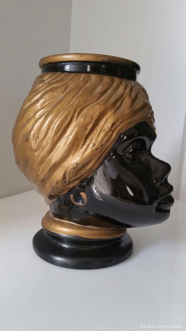 Antigüedades: Jarrón cabeza Testa di Moro Fornasetti - Foto 6 - 101280583