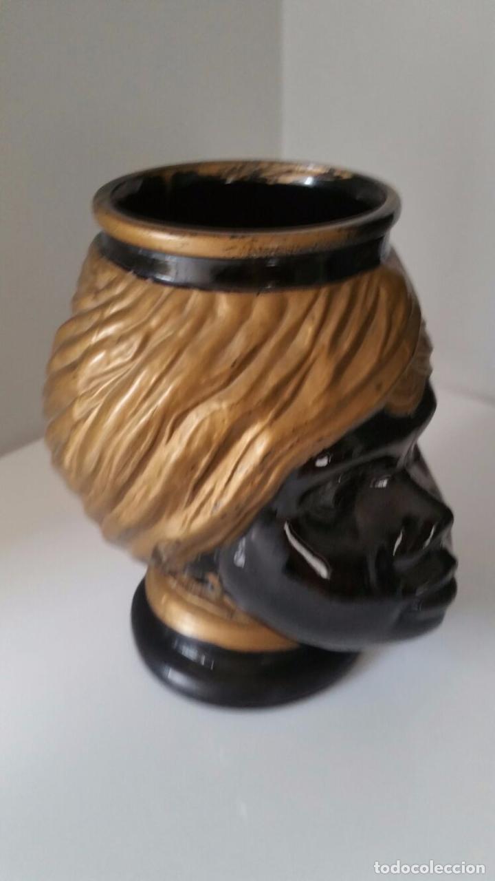 Antigüedades: Jarrón cabeza Testa di Moro Fornasetti - Foto 7 - 101280583