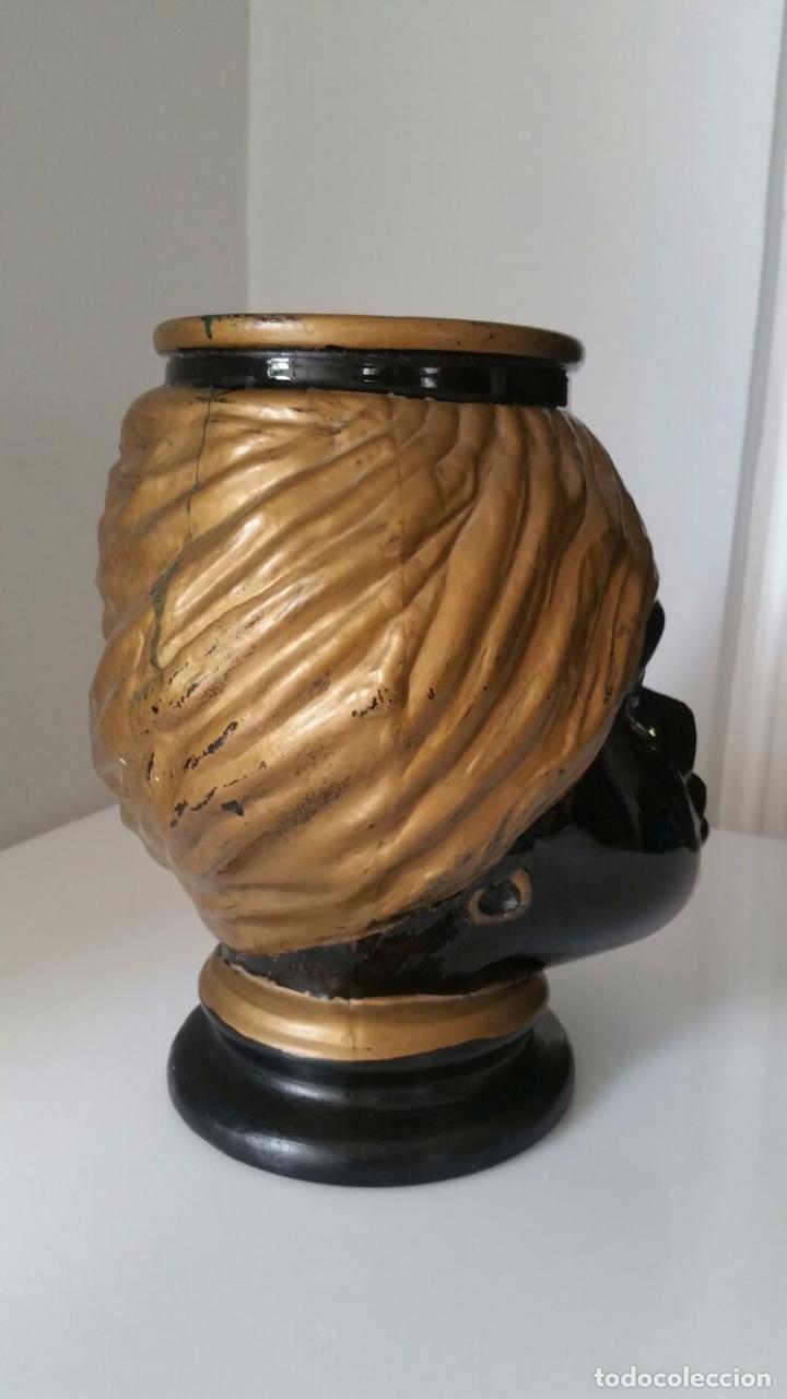 Antigüedades: Jarrón cabeza Testa di Moro Fornasetti - Foto 9 - 101280583