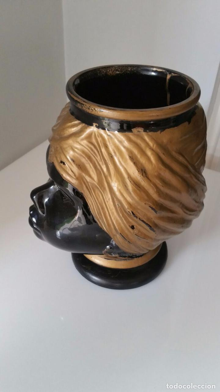 Antigüedades: Jarrón cabeza Testa di Moro Fornasetti - Foto 11 - 101280583