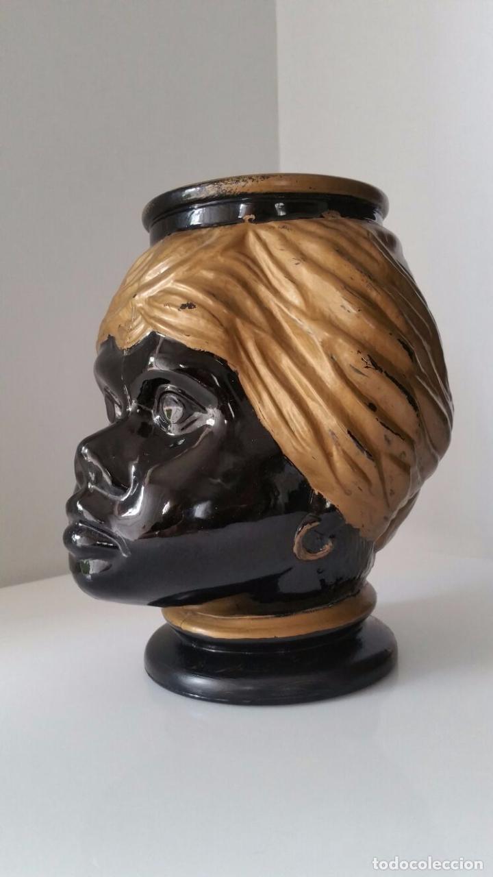 Antigüedades: Jarrón cabeza Testa di Moro Fornasetti - Foto 12 - 101280583