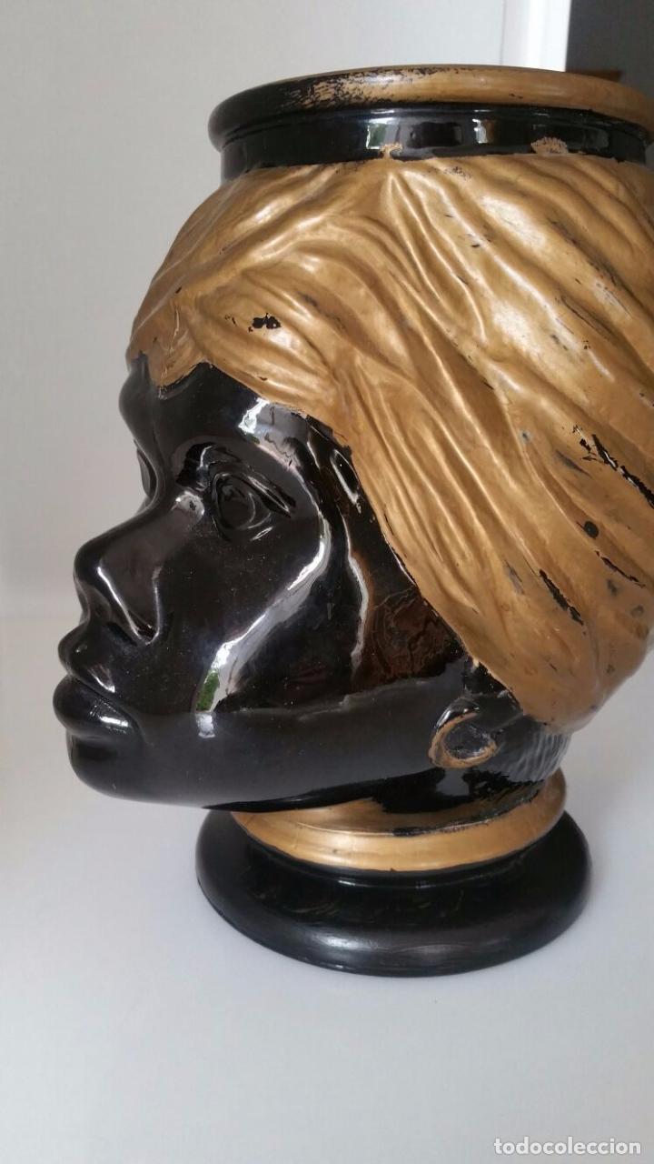Antigüedades: Jarrón cabeza Testa di Moro Fornasetti - Foto 13 - 101280583