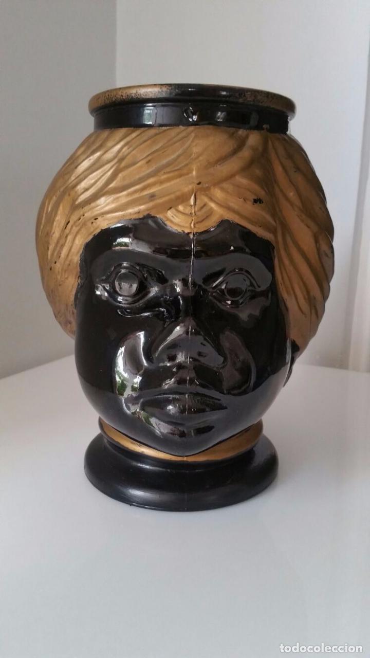 Antigüedades: Jarrón cabeza Testa di Moro Fornasetti - Foto 14 - 101280583